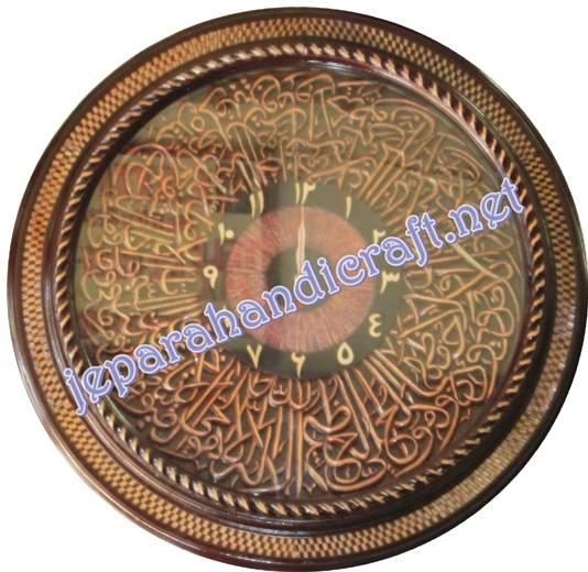 Jam Kaligrafi Ukiran Ayat Kursi Loster