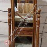 Cermin Goyang Mawar Krawang Kayu Jati