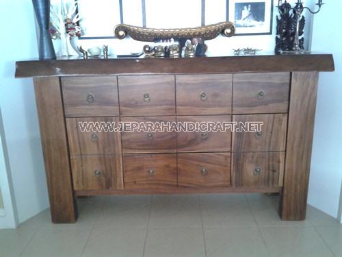 Jual Meja Minimalis Drawer Giant Solid Wood Murah
