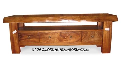 Jual Rak TV Minimalis Solid Wood 4 laci Harga Murah