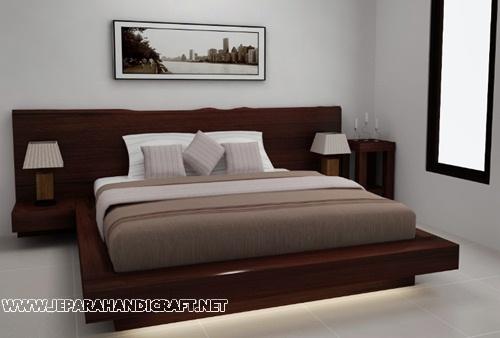 Jual Tempat Tidur Minimalis Antik Solid Wood Natural Harga Murah