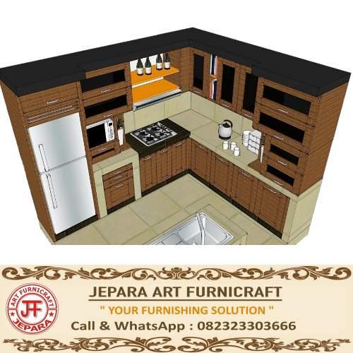 Jual Kitchen Set Minimalis Jati Jepara Terbaru Murah