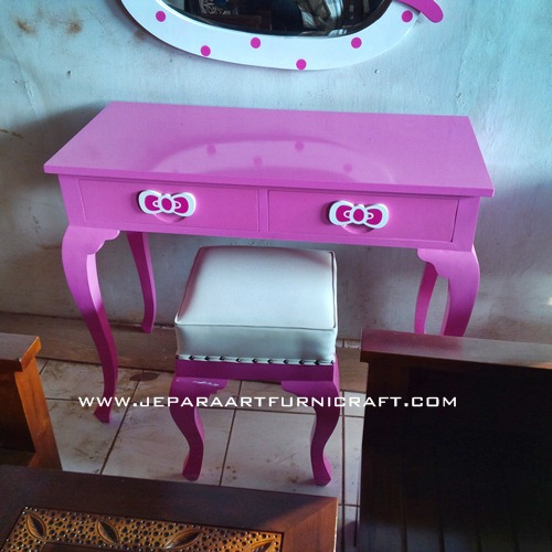 Jual Meja Rias Anak Hello Kitty Lucu