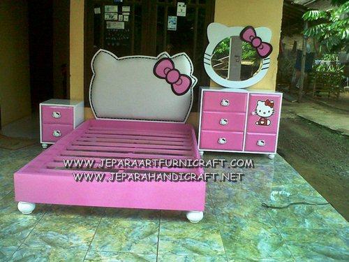 Furniture Tempat Tidur Anak Hello Kitty Murah