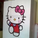 Lemari Pakaian Minimalis Hello Kitty