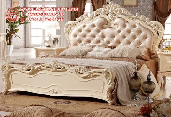 Jual Tempat Tidur Mewah Delana Ivory Harga Murah