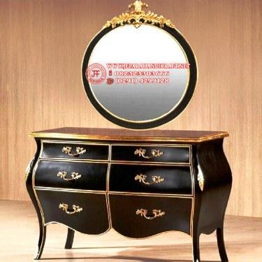Harga Meja Drawer Classic Specchio Bulat Murah