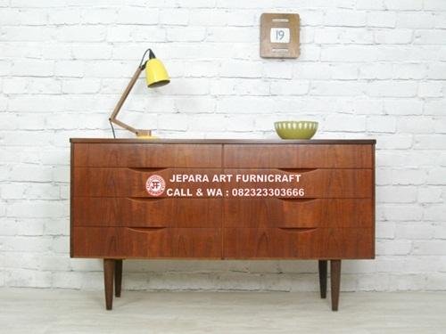 Bufet Minimalis Jati Vintage Mid 006