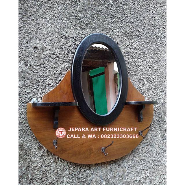 Terbaru Cermin Jati Vintage Oval Murah