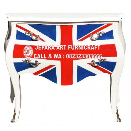Drawer Commode Union Jack