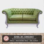 Kursi Sofa Tamu Classic Green