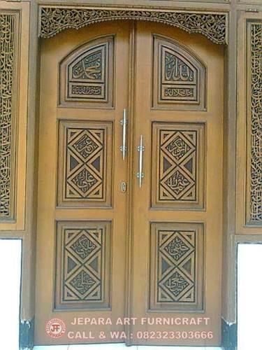Jual Kaligrafi Arab Pintu Masjid Murah