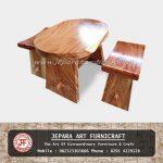 Set Kursi Teras Trembesi Solid Wood
