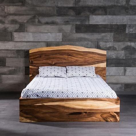 Tempat Tidur Solid Natural Wood