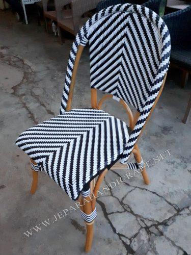 Jual Kursi Minimalis Rotan Cafe Zebra Harga Murah