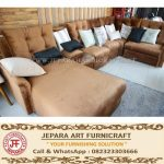 Sofa Modern Minimalis Grace Brown Velvet