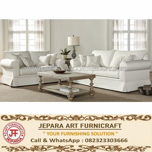 Set Sofa Tamu Minimalis Jati Terbaru Alverta