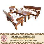 Kursi Tamu Minimalis Antik Trembesi Solid Wood