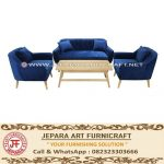 Set Sofa Tamu Jati Minimalis Marry