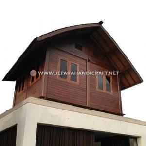 Jual Gazebo Rumah Kayu Kelapa Sirap Ulin