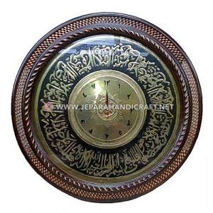 Jam Dinding Kaligrafi Ayat Kursi Kuningan Berkualitas