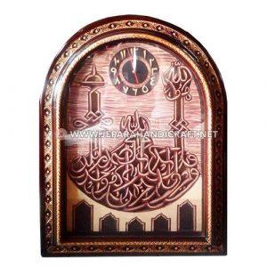 Jual Jam Dinding Kaligrafi Jati Masjid Jepara Berkualitas