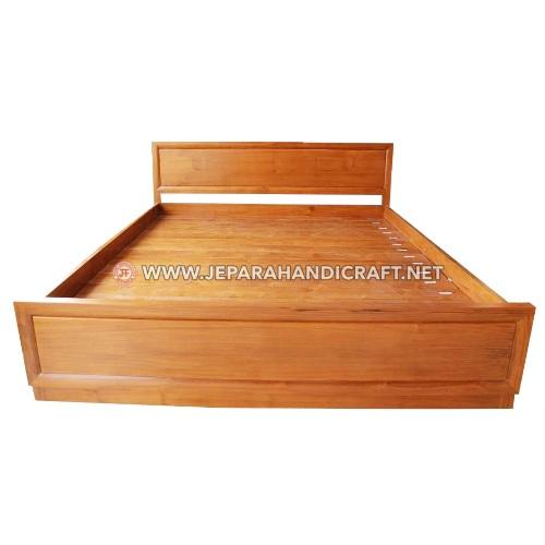 Jual Tempat Tidur Kayu Jati Minimalis Marva Jepara