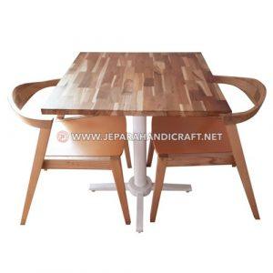 Jual Meja Kursi Cafe Jati Industrial Brudge Murah