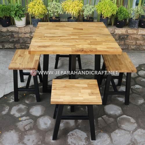 Beli Set Meja Makan Cafe Jati Minimalis Laminasi Terbaru