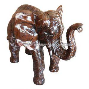 Jual Patung Gajah Kayu Trembesi Solid Jepara Berkualitas