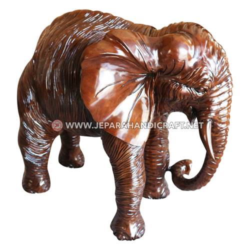 Jual Patung Kayu Trembesi Solid Gajah Berkualitas