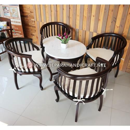 Beli Set Meja Cafe Kayu Jati Betawi Terbaru