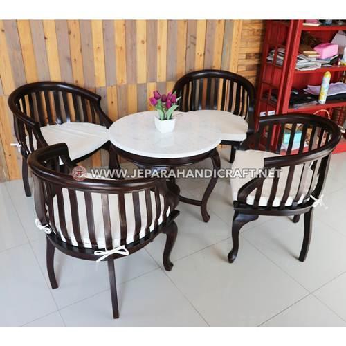 Jual Set Kursi Cafe Jati Antik Betawi Murah