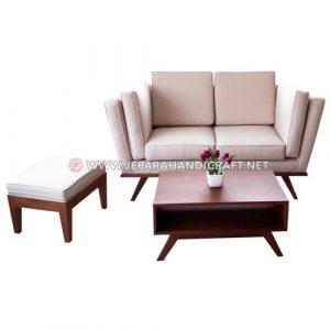 Jual Set Sofa Tamu Jati Minimalis Rafael Jepara Murah