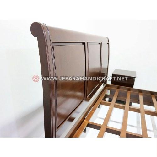 Jual Tempat Tidur Jati Minimalis Austin Brown Jepara