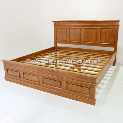 Jual Tempat Tidur Minimalis Jati Boston Murah