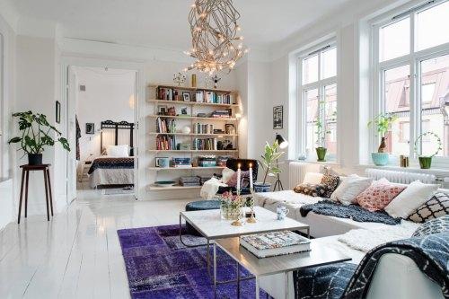 gambar Desain Interior Ruang Tamu Scandinavian Style