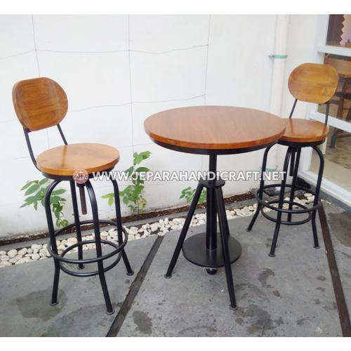 Jual Meja Kursi Bar Cafe Industrial Joan Terbaru Murah