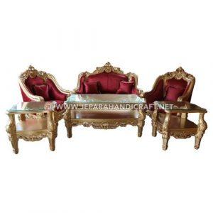 Jual Sofa Tamu Mewah Classic Clearmont Jepara Terbaru