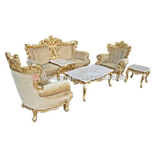 Jual Set Sofa Tamu Mewah Classic Eolo Gold Berkualitas