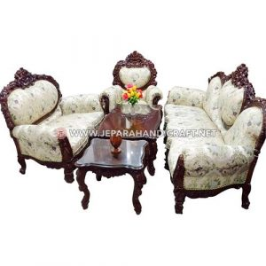 Jual Set Sofa Tamu Mewah Classic Pluton Jepara Murah