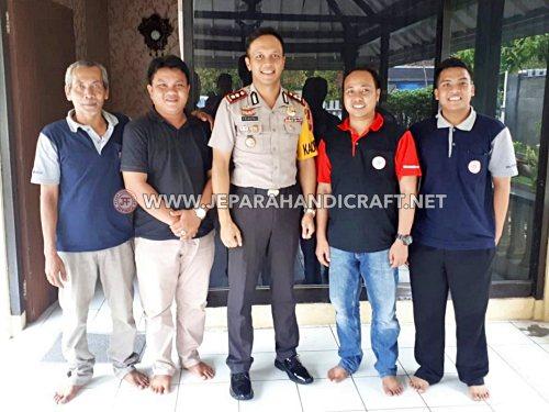 Tim Jepara Art Furnicraft Bertemu Dengan Kapolres Ngawi Bapak Pranatal Hutajulu