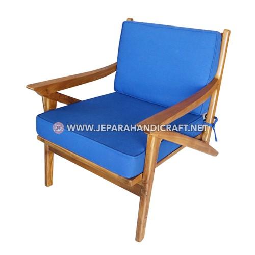 Jual Kursi Sofa Cafe Jati Minimalis Lazy Jepara Harga Murah