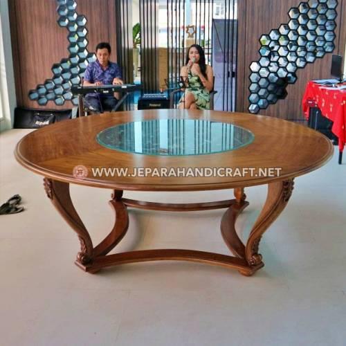 Jual Meja Lobi Hotel Kayu Jati Ukir Jepara Murah