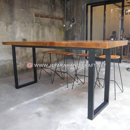 Jual Meja Bar Industrial Sean Jepara Terbaru