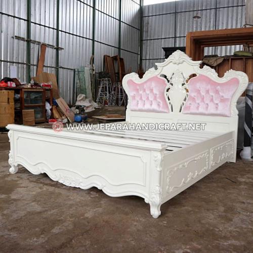 Jual Tempat Tidur Putih Shabby Chic Charme Mewah Terbaru