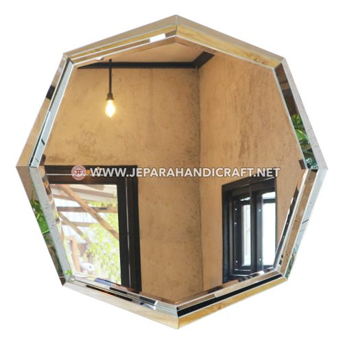 Jual Cermin Dinding Hias Hexagonal Aesthetic Murah
