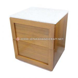 Jual Meja Nakas Kayu Jati Minimalis Marble Jepara Terbaru