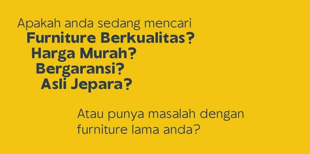 Jepara Art Furnicraft Toko Mebel Jepara Murah