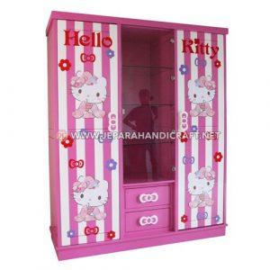 Jual Lemari Pakaian Anak Hello Kitty Minimalis Harga Murah